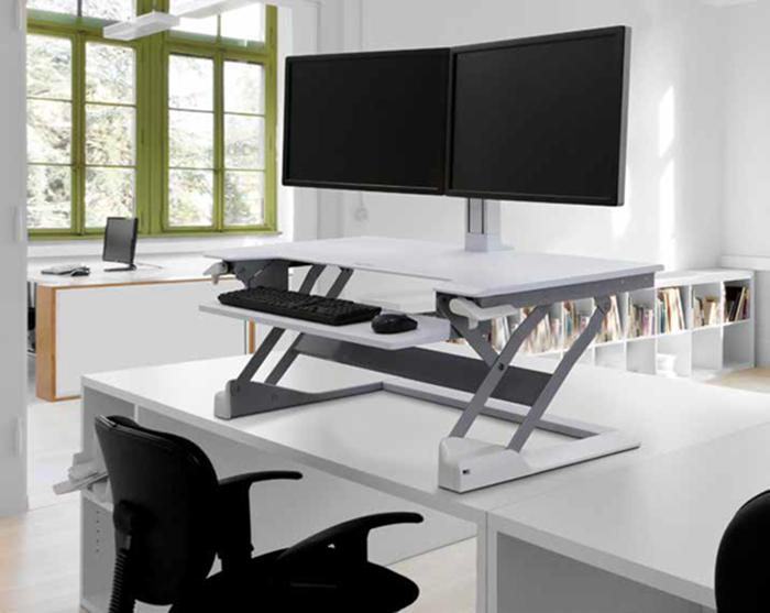 Ergotron desk riser white