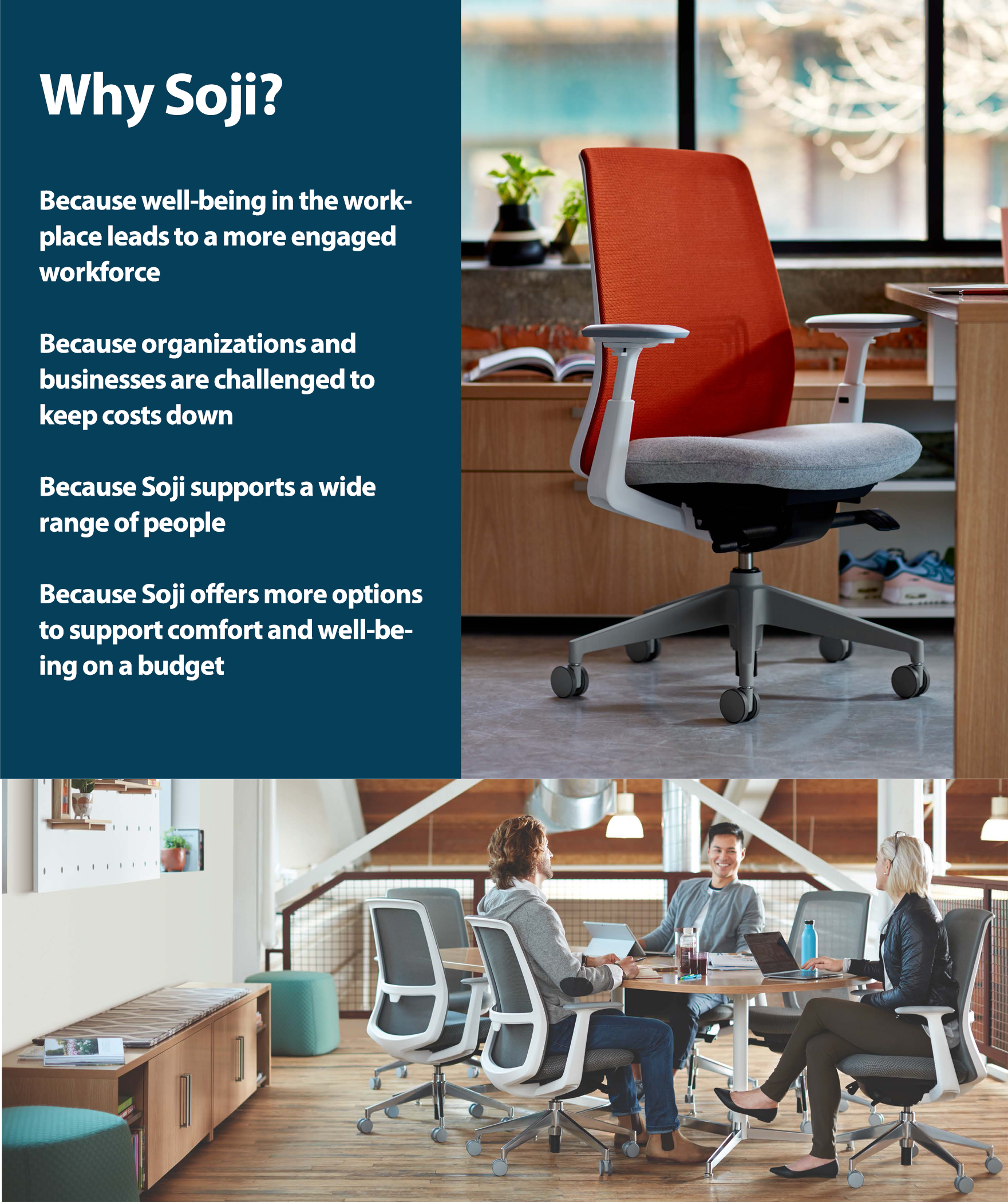 Superieur Haworth Task Seating Is A Portfolio Of High Performance Chairs That Support  The Well Being Of Every Working Individual. Soji Is The Newest Member Of  The ...